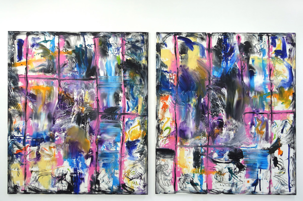 "Robert Gfader, ""DSC00655"". Dyptic. 220x190/ 220x190cm. Oil on canvas (2015)"